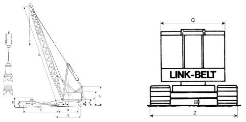Bager Link Belt LS78 in LS 108